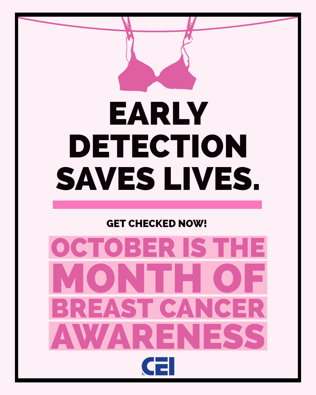 Breast Cancer Awareness Month We Re Stronger Together Join Us Cei